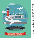 private travel flat vector... | Shutterstock .eps vector #379901074