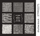 hand drawn textures and brushes.... | Shutterstock .eps vector #379902271