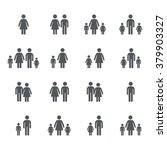 assembly of people silhouettes... | Shutterstock .eps vector #379903327
