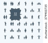 assembly of people silhouettes... | Shutterstock .eps vector #379903735