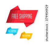 free shipping tags | Shutterstock .eps vector #379904929