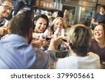 dinner dining wine cheers party ... | Shutterstock . vector #379905661