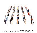 team over white isolated groups  | Shutterstock . vector #379906315