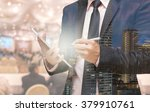 double exposure of businessman... | Shutterstock . vector #379910761