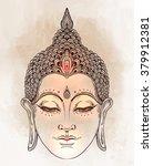 head of buddha. vector... | Shutterstock .eps vector #379912381