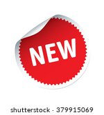 red vector sticker and text new | Shutterstock .eps vector #379915069
