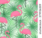 tropical trendy seamless... | Shutterstock .eps vector #379936309