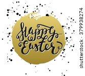 happy easter typographic... | Shutterstock .eps vector #379938274