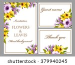 invitation with floral... | Shutterstock . vector #379940245