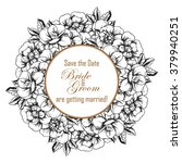 invitation with floral... | Shutterstock . vector #379940251