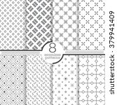 set of eight seamless patterns. ... | Shutterstock .eps vector #379941409