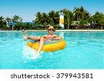 tween girl relaxing on the...   Shutterstock . vector #379943581