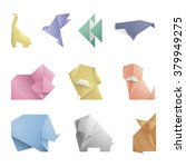 collection of 10 simple origami ... | Shutterstock .eps vector #379949275