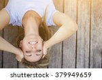 Upside Down Image Of A Young...