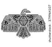 vintage native american eagle... | Shutterstock .eps vector #379964107
