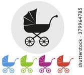 set of five prams  vector... | Shutterstock .eps vector #379964785