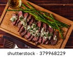 Steak With Blue Cheese Sauce...