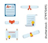 diploma scroll collection.... | Shutterstock .eps vector #379970491