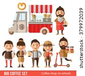 set of icons and characters in... | Shutterstock .eps vector #379972039