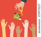 vector real estate concept in... | Shutterstock .eps vector #379973227