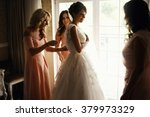 Bride And Bridesmaids During...