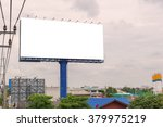 large blank billboard on road... | Shutterstock . vector #379975219