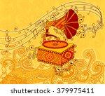 Vector Design Of Gramophone In...