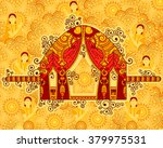vector design of palanquin in... | Shutterstock .eps vector #379975531