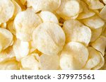 close up potato chips on wood... | Shutterstock . vector #379975561