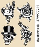 tattoo vector illustration set | Shutterstock .eps vector #379977244
