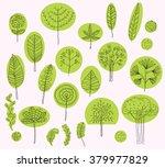 set of vector trees symbols... | Shutterstock .eps vector #379977829