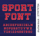 sport alphabet vector font.... | Shutterstock .eps vector #379979704
