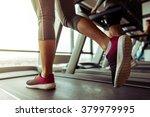legs of woman running on a... | Shutterstock . vector #379979995