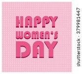 international happy women's day ... | Shutterstock .eps vector #379981447