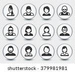 people face set on transparent... | Shutterstock .eps vector #379981981