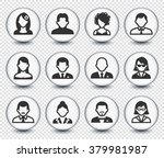 people face set on transparent... | Shutterstock .eps vector #379981987
