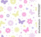 seamless floral pattern. pastel ... | Shutterstock .eps vector #379990387