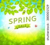 elegant spring sale banner.... | Shutterstock .eps vector #380001529