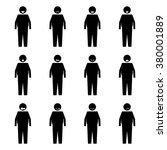 stick figure fat people emotion ... | Shutterstock .eps vector #380001889
