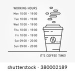 Coffee Time Working Hours...
