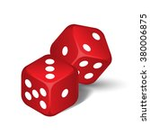 vector red dices isolated on...   Shutterstock .eps vector #380006875