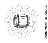wooden beer wine barrel... | Shutterstock .eps vector #380007361