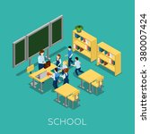 school and learning isometric... | Shutterstock .eps vector #380007424