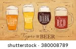 poster beer types with four... | Shutterstock .eps vector #380008789