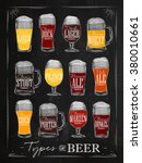 poster beer types with main... | Shutterstock .eps vector #380010661