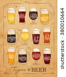 poster beer main types... | Shutterstock .eps vector #380010664