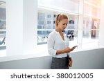 beautiful young businesswoman... | Shutterstock . vector #380012005