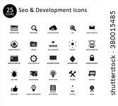 seo and website development... | Shutterstock .eps vector #380015485