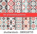 set of mexican stylized... | Shutterstock .eps vector #380018755