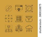 set of line vectors icons in... | Shutterstock .eps vector #380018875